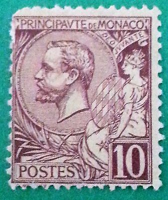 Monaco Sc # 15 1891 to 1921  Mint MHR OG Stamp CV $US100.00