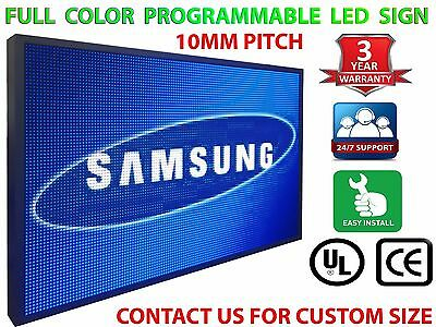 """18"""" x62"""" PROGRAMMABLE LED SIGN 10MM OUTDOOR SCROLLING TEXT GRAPHIC DIGITAL"""