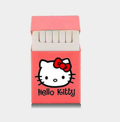 Holds 20 Cigarettes Hello Kitty lovery Silicone cigarette case pink black