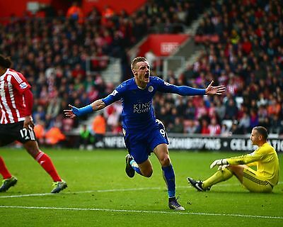Jamie Vardy Leicester City 2016 03 (Football) Photo Print