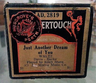 Vintage Mastertouch Pianola Roll Just Another Dream of You Waltz