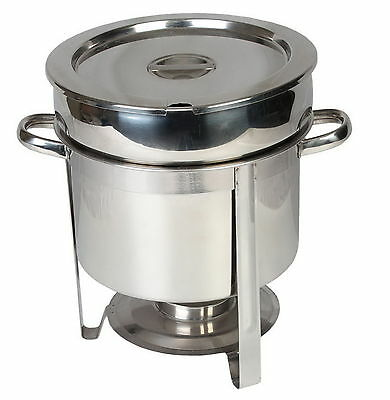 New 11 qt. Stainless Steel Marmite Chafer Chafing Soup Sauce Serving Buffet Dish