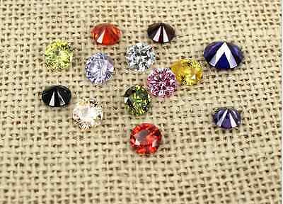 Cubic Zirconia  CZ  Brilliant Cut Rounds Loose Gemstone DIY for Jewelry 4mm-12mm