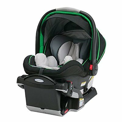 Graco Snugride CAR SEAT, Adjustable Headrest Click Connect 40 BABY BOOSTER, Fern