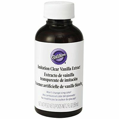 Wilton Clear Vanilla Extract Flavour for Food Buttercream Icing Kosher 2oz 59ml