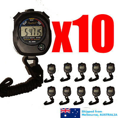 10 x STOPWATCH - Handheld Digital LCD Chronograph Sports Counter stop watch