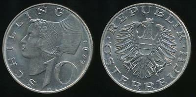 Austria, Republic, 1979 10 Schilling - almost Uncirculated