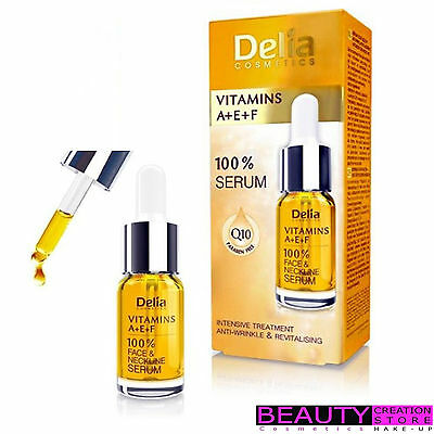 DELIA 100% Face Neckline Serum VITAMINS A+E+F Anti Wrinkle 10ml DL016