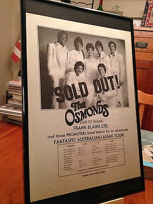 1 BIG 11X17 FRAMED THE OSMONDS BROTHERS LP ALBUM CD PROMO AD - choose from 10!