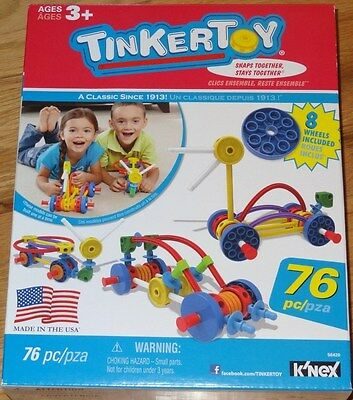 Tinker Toy 76Piece Wild Wheels Building Construction Set TinkerToy 56420