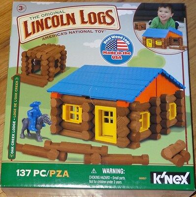 Oak Creek Lodge Lincoln Logs Building Construction Toy Real Wood Logs 00857
