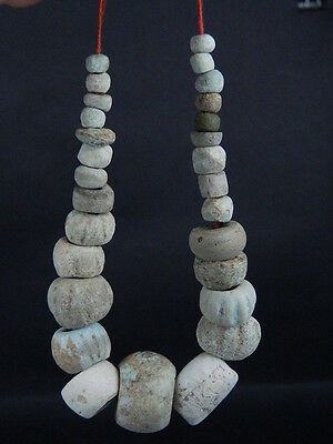Ancient Fience Beads Strand Egyptian Roman 200 BC #BD15006 • CAD $189.73