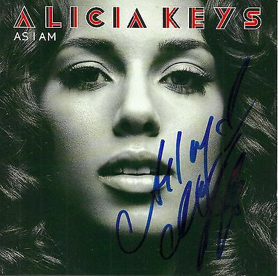 Alicia Keys signed As I Am cd
