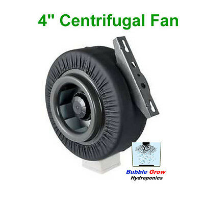 """Centrifugal Fan Ventilation Exhaust Fan 4""""/100Mm Vent Duct Extractor Metal Blade"""