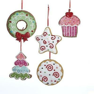 Gingerbread Ornaments - Claydough- Set of 5