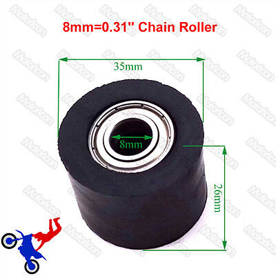 8mm Chain Roller Tensioner Pulley Guide For Motocross Pit Trail Dirt Bike