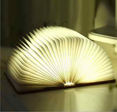 Creative Rechargeable Battery LED Folding Light Book Style Desk Table Nightlight