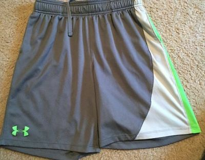 Under Armour Boy's Influencer Training Shorts Save 30%!!  XL  Soccer  Gray
