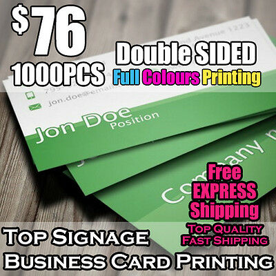 1000pcs Business Cards Double Sided Printing on 360mic Thick Card Full Colour