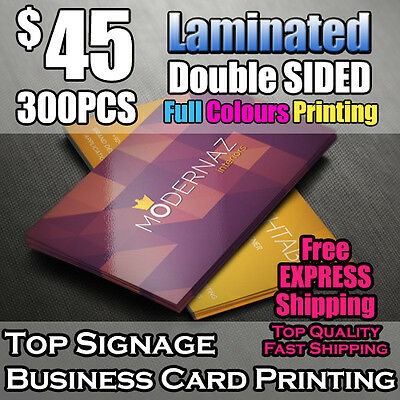 300pcs Business Cards Double Sided Printing Laminated Full Colour free shipping