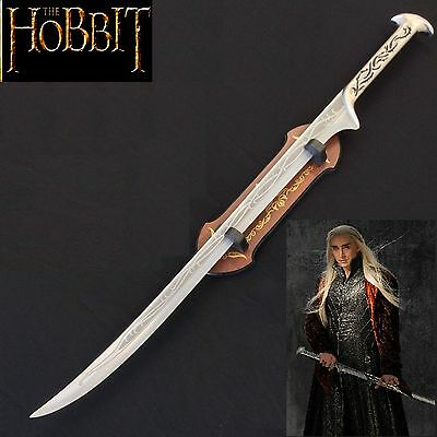 Full Tang Stainless Steel Sword of Elvin King Thranduil with Plaque - The Hobbit