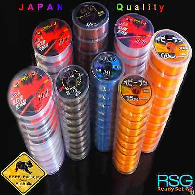 Monofilament Fishing Line mixed pack 600m 6x 100m