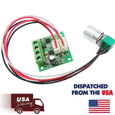 6V 12V 2A 30W DC Motor Speed Controller PWM Adjustable Variable Driver Switch