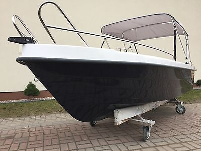 BOATIC 440 Motorboot GFK Boat Angel- Ruder- Motor- Boot Gleiter 15 30 PS Kat. C