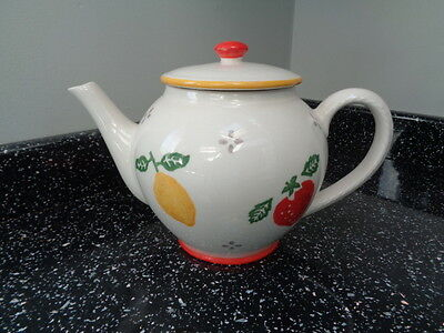 Laura Ashley Summer Fruits Large Tea Pot  - Excellent