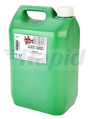 Scola Artmix AM5LT/36 High Quality Ready Mixed Tempera Paint 5 Litre Green