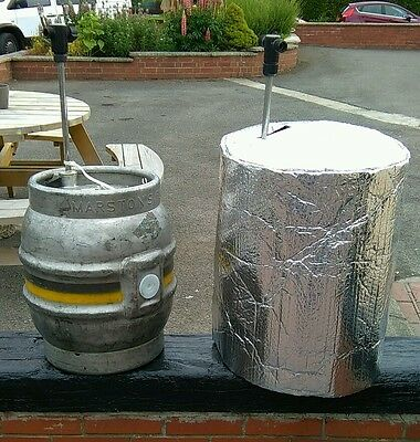 1 INSULATED CASK COVER & 2 ICE BLANKET cask beer cooler pub party  outdside ale