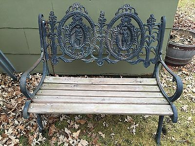 Cast Iron Victorian Garden Bench-Very Ornate