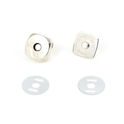 14mm Chrome Square Magnetic Snap Clasp Button Fastener for Bag Making (A002.03)
