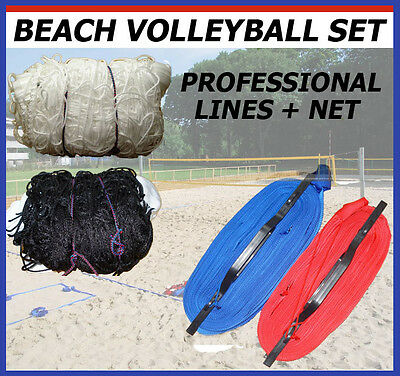 Professional BEACH VOLLEYBALL SET Pro Kit LINES + NET - FIVB Size - Producer EU