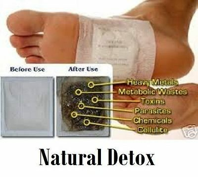 10 X Herbal Detox Foot Pads Detoxification Cleansing Patches Remove Toxins Diet