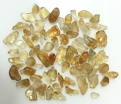 100 Ct Scoop Natural Citrine Raw Rough Yellow Orange Lot Gemstone Loose Mineral