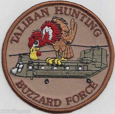 Chinook Taliban Hunting Club Buzzard Force Embroidered Badge Patch *