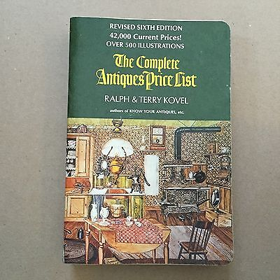 The Complete Antiques Price List Ralph & Terry Kovel 1974 Paperback