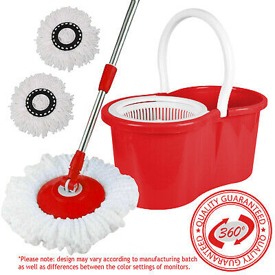 360 Degree Ashley Spinning Mop Bucket Home Cleaner Cleaning With Two Mop Heads
