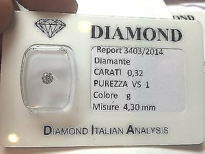 DIAMANTE 0.32 CARATI VS1 G COLOR in blister - lotto 0,30