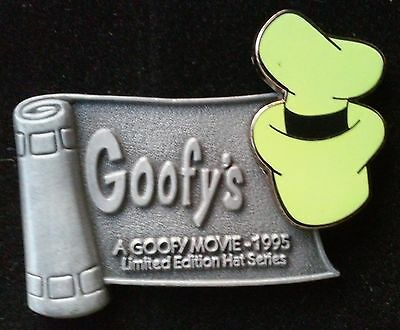 2001 Wdw A Goofy Movie 1995 Hat Series Limited Edition Disney Pin, Pewter Banner