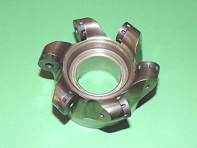 """ISCAR ROUNDMILL 4"""" Indexable Face Mill w/ New Inserts (FR D321A400-6-1.50-20)"""