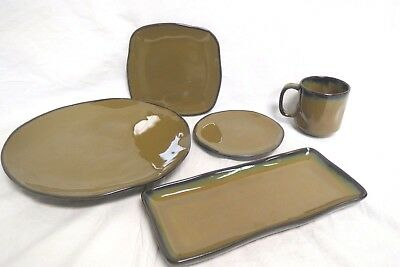 Tuxton Mojave 5 Piece Dish Set  Restaurant Quality Brand New Beautiful Set