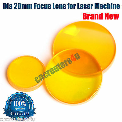 New DIA 20mm ZnSe Focus Lens for CO2 Laser Cutter Engraver Machines FL 1.5""