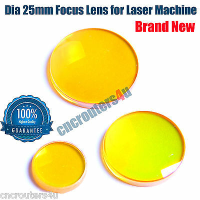 New DIA 25mm ZnSe Focus Lens for CO2 Laser Cutter Engraver Machine FL 2.5""