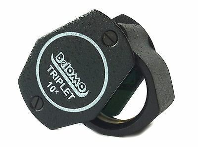 Belomo Jewellers 10x Loupe Hand Lens Triplet Diamond Grading Magnifier