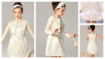 Girls Formal Dress & Top Outfit Flower Girl Dress Great Design Sz 110 to 150 NEW