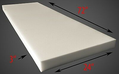 "Foam Upholstery 3"" Thick, 24"" Wide x 72"" Long Medium Density"
