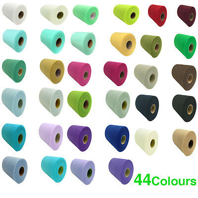 "44 Colours Tulle Roll Spool 6""x100yd Tutu Wedding Party Gift Craft Bow 6""x300'"
