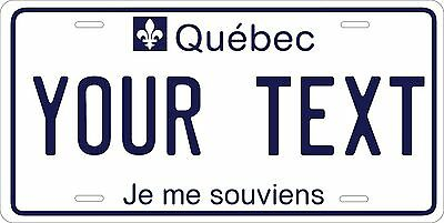 Quebec Tag Personalize Novelty Vehicle Car Auto OR Motorcycle License Plate